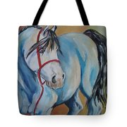 Colored Pony Tote Bag