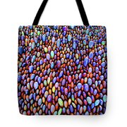 Colored Rocks Or Eggs Tote Bag