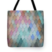 Colored Roof Tiles - Painting Tote Bag
