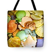 Colored Shells Tote Bag
