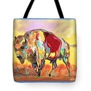 coloredd Buffalo Tote Bag