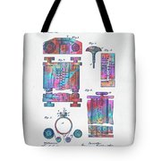 Colorful 1889 First Computer Patent Tote Bag by Nikki Marie Smith