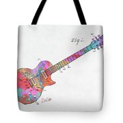 Colorful 1955 Mccarty Gibson Les Paul Guitar Patent Artwork Mini Tote Bag by Nikki Marie Smith