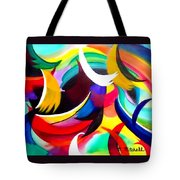Colorful Abstract Art Tote Bag