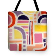 Colorful Abstract Art - Urban Maze Tote Bag