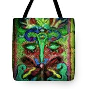 Colorful Abstract Painting Swirls And Dabs And Dots With Hidden Meaning And Secret Stories Of Birds  Tote Bag