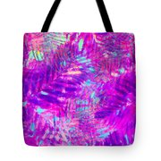 Colorful Abstract Palm Leaves 3 Tote Bag