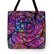 Colorful Abstract Rose  Tote Bag