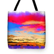 Colorful Abstract Sunset Tote Bag