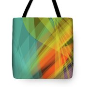Colorful Abstract Vector Background Banner, Transparent Wave Lin Tote Bag