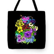 Colorful Art Love Bouquet Tote Bag