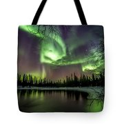 Colorful Auroras Tote Bag