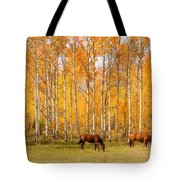 Colorful Autumn High Country Landscape Tote Bag