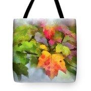 Colorful Autumn Leaves - Digital Watercolor Tote Bag