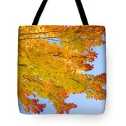 Colorful Autumn Reaching Out Tote Bag
