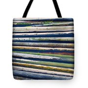 Colorful Bamboo Tote Bag by Wim Lanclus