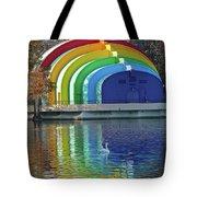 Colorful Bandshell And Swan Tote Bag