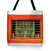 Colorful Bared Window Tote Bag