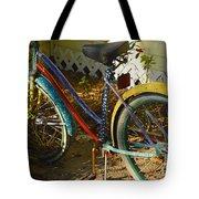 Colorful Bike Tote Bag