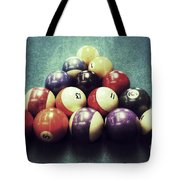 Colorful Billiard Balls Tote Bag