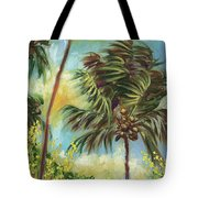 Colorful Blue Hawaiian Plantation House With Red Tin Roof And Sw Tote Bag