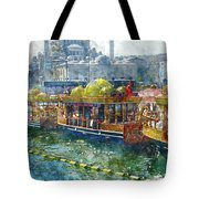Colorful Boats In Istanbul Turkey Tote Bag