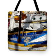 Colorful Boats Tote Bag