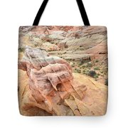Colorful Boulder Above Wash 3 In Valley Of Fire Tote Bag