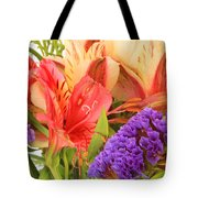Colorful Bouquet Of Flowers Tote Bag