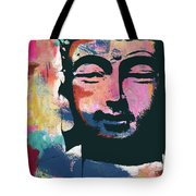 Colorful Buddha 2- Art By Linda Woods Tote Bag