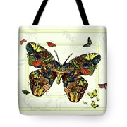 Colorful Butterfly Collage Tote Bag