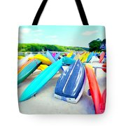 Colorful Canoes Tote Bag