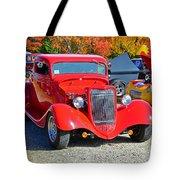Colorful Car Show Tote Bag