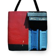 Colorful Caribbean Door Tote Bag