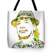 Colorful Carlos Santana Tote Bag