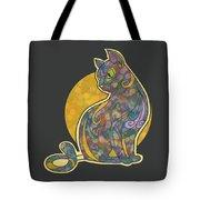 Colorful Cat Art Tote Bag