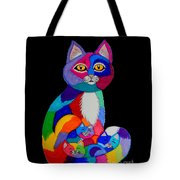Colorful Cats And Kittens Tote Bag