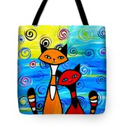 Colorful Cats Tote Bag