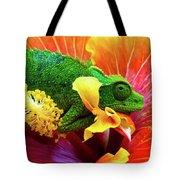 Colorful Chameleon Tote Bag