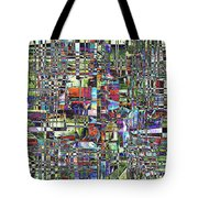 Colorful Chaotic Composite Tote Bag