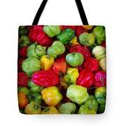 Colorful Chili Pepper Tote Bag