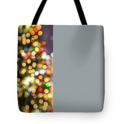 Colorful Christmas Lights Tote Bag by Benny Marty
