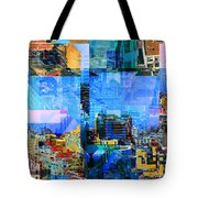 Colorful City Collage Tote Bag