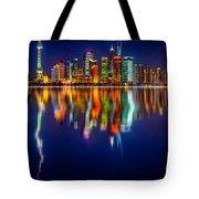 Colorful City Reflection 17 06 2015 Tote Bag