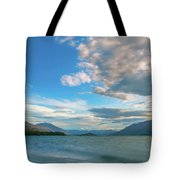 Colorful Clouds At Golden Hour On Lake Wakatipu At Glenorchy, Nz  Tote Bag