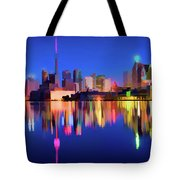 Colorful Cn Tower  Tote Bag