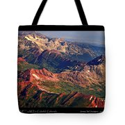 Colorful Colorado Rocky Mountains Planet Art Poster  Tote Bag