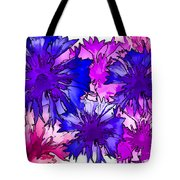 Colorful Cornflowers Tote Bag