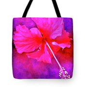 Colorful Cosmic Flower-hibiscus Tote Bag