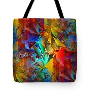 Colorful Crash 11 Tote Bag